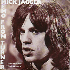CD Single The ROLLING STONES Mick JAGGER Soundtrack Performance Memo from Turner