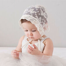 Baby Girls Cap Princess Hollow Hat Lace-up Cute Beanie Summer Bonnet Outdoor Cap