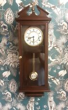 Vintage mahogany Westminster chime wall clock in good working order