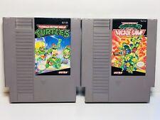 Teenage Mutant Ninja Turtles 1 & 2 TMNT NES Nintendo Original Two Classic Games
