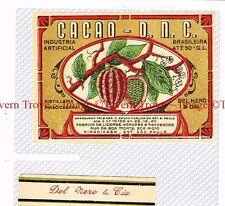 1940s BRASIL Sao Paulo Del Nero & Cia Cacao DNC Liqueur Label set