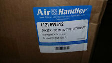 Air Handler 5W512 Pleated Air Filter 20x25x1 Merv7 Standard Capacity (lot of 9)
