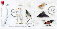 Namibia 2016 FDC Herons of Namibia 5v Set Cover Squacco Heron Birds Stamps