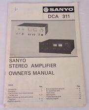 Sanyo dca-311 + Manual Electrical Schematic