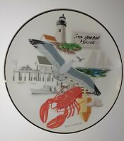 Vintage 1983 Bar Harbor Maine Lobster Seagull Lighthouse PLATE Down East Crafts