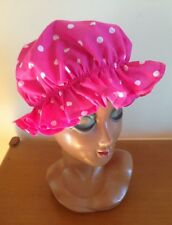 Pink White Polka Dot Mop Hat Victorian Maid Fairy Tale Fancy Dress Costume New