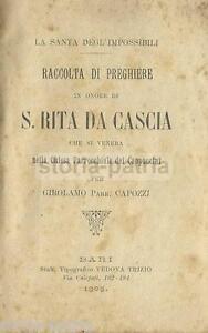 PUGLIA_BARI_ANTICA OPERA DEVOZIONALE_SANTA RITA_AGIOGRAFIA_CASCIA_CAPOZZI_RARITA