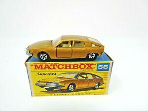 VINTAGE 1969 LESNEY MATCHBOX #56 BMC 1800 PINNFARINA IN ORIGINAL BOX. MINT!