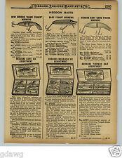 1929 PAPER AD Heddon Baby Vamp Game Fisher Torpedo Light Six Fishing Lure Box