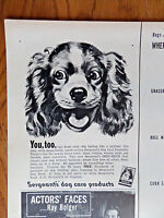 1950 Sergeant's Dog Care Ad Brittany Spaniel Dog