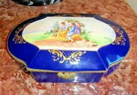 Vintage Sevres Style Bohemia Porcelain and Bronze Czech Jewerly.