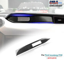 Carbon Fiber Interior Dashboard Panel Cover Trim Fit For Ford Mustang 2015-2019