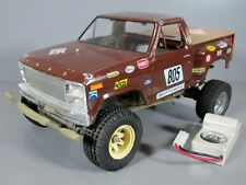 Vintage Tamiya 1/10 Scorcher Chassis Ford F150 Ranger Body for Parts or Restore