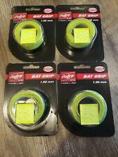 4 packs RAWLINGS Baseball Softball Bat Grip 1.00 MM  Neon Yellow NEW Tanners INC