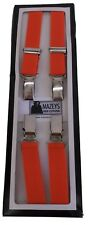Mens Orange Made in England 1/2 Inch Braces