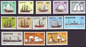 Singapore 1980 SC 336-348 MNH Set Ship