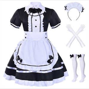 Womens Outfit Lot Sexy Japanese Maid Dress Waitress Uniform Cosplay Costume