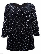 Marks and Spencer Hip Length 3/4 Sleeve Party Women's Tops & Shirts