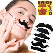 Assorted Fake Moustaches on Elastic ~ 6 Pack ~ Novelty ~ Fun Joke Party Tashes