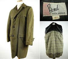 Vintage Bond 5th Avenue Moleskin Wolle Decke Futter Top Coat Mantel Sz 42
