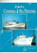 P&O's Canberra & Sea Princess by McCart Cruise Ship Ocean Liner