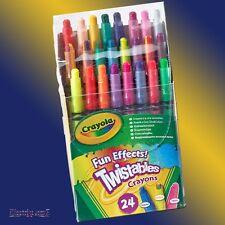 Crayola 24 divertenti effetti speciali FX twistables Cera Pastelli Neon regolari & ARCOBALENO