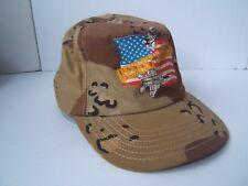 Desert Storm Camouflage American Flag Fighter Jet Hat Camo Snapback Baseball Cap
