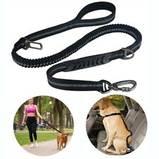 Reflective Dog Leash Tactical Training Nylon Bungee Dual-Handle Dog Lead 4-6ft