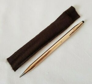 Cross 1/20 14 KT Rolled Gold Twist Action Retractable Pencil Made In Ireland