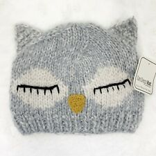 San Diego Hat Company womens hat owl knit winter gray snow one size NEW