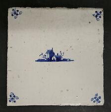 Antique Dutch Landscape Tile