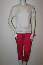 "Triumph Pyjama  ""Sweet Heart 142 PK1"" Gr.38 pink-weiß Hose Knielang Loungewear"