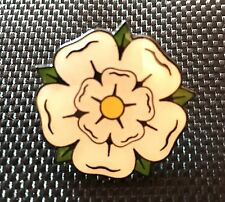 YORKSHIRE ROSE ENAMEL PIN BADGE GIFT  (PB7) BIGGER THAN OTHERS