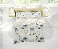 3D White Flower Quilt Cover Duvet Cover Comforter Cover Single/Queen/King 3pcs