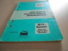 Parts catalogue Teile Katalog Volvo Penta BB70 Aquamatic Reservdelskatalog