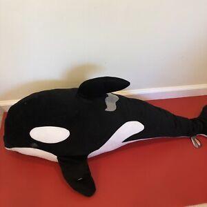 "Orca Killer Whale Huge Plush Stuffed Animal Marine Wildlife 40"" Melissa And Doug"