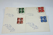 Gb 1936 Eviii - Set Of 4 First Day Cover Each With Block Of 4 Of Each Value
