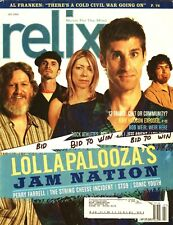 Perry Farrell Relix Magazine July 2004 Lollapalooza;S Jam Nation Sonic Youth