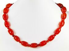Beautiful precious stone necklace from Carnelian in Olive Form with spacer beads