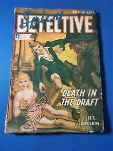 Spicy Detective Vol. 17 #5 Sep 1942 White Pages Pulp BONDAGE COVER GD