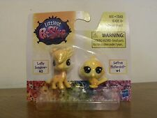Littlest Pet Shop BFF Rainbow Giraffe Lofty Sunglow #3 Saffron Flutterdust #4