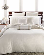 Hotel Collection Woven Texture FULL/QUEEN Duvet Cover Bedding IVORY $285 G771