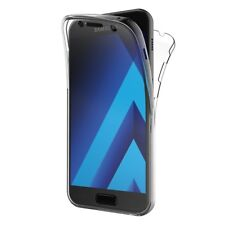 COVER PER SAMSUNG A3 A5 2017 FULL BODY 360 FRONTE RETRO CUSTODIA TRASPARENTE