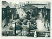 "1960 Lancaster Almshouses Common Garden street 8.5*6.5"" press photo"