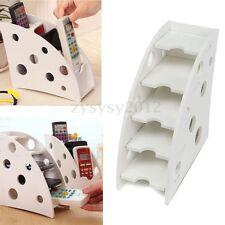 DVD TV Air Conditioner Remote Control White Stand Storage Box Holder Organizer