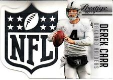 2015 Prestige NFL Shield #22 Derek Carr Raiders