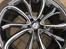 """21"""" SSR 3 Alliage Noir polonais ROUES PIRELLI 2753521 pneus Bentley GT Gtc Spur"""