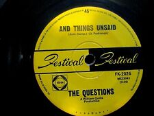 The Questions - And Things Unsaid - Very Rare 1967 Aussie 7'' single - PSYCH