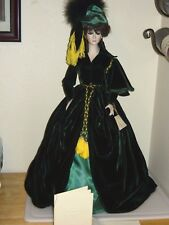 """1988 Dorcey Creations 26"""" Victorian Porcelain Doll W/ Stand & COA"""