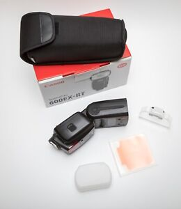 Canon Speedlite 600EX-RT Shoe Mount Flash. Boxed with pouch and filter holder